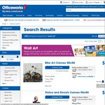50x50 Banksy and Others Canvas Prints $1.50 - $3 at Officeworks (Instore Only - See Description)