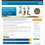 Citibank Personal Loan - 2.9% fixed for 2 years and $129 Set-up Fee
