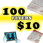 100 A5/DL Flyers Printed on Gloss Paper for $10, Free Online Design Tool, Shipping $8 @UDesignIt