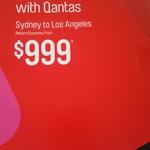 QF SYD - LAX $999 Return @ Flight Centre