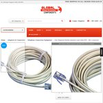 20M Telephone Modular Extension Lead Cable 6p4c - RJ12 Connectors $5.50 Pick up [Paramatta NSW] @ Global Electronics