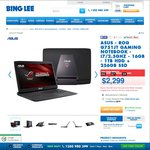 "Bing Lee - Asus 17.3"" ROG G751JT Gaming Laptop + Bonus Office 365 Personal 1 Year Subscription $2299"