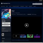 US PSN Sale FEZ for PS VITA - $4.42 and Watch Dogs for PS4 $20.99 (US PSN Account Required)