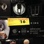 Tap King Dispenser 50% off $16.50 or Slab of Becks $35 @ BWS Woolworths