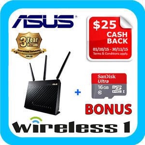 ASUS RT-AC68U + 16GB SanDisk microSD Card $195 (after $25 Asus