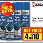 Motortech Tyre Shine - 4 for $10 at Repco