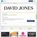 AmEx Offer - Spend $200 Get $40 Back @ David Jones Online