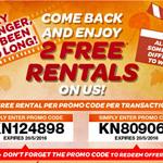2 Free Rentals @ Video Ezy Express