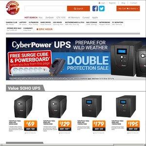 CyberPower UPS Sale + Free Belkin 6-way Power Board + Belkin