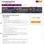 Woolworths WISH eGift Cards 5.5% off @ Cashrewards