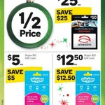 ½ Price Skype & Adrenaline Gift Cards @ Woolworths (Starts 21/12)