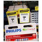 Phillips 12pk AA OR AAA Alkaline Batteries $1.50 @ Reject Shop