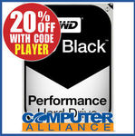 "6TB WD BLACK 3.5"" 7200rpm SATA 6GB/s HDD PN WD6002FZWX $335 (+ $15 Shipping) @ Computer Alliance eBay"