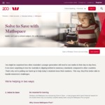 $20 Reward from Westpac When New Choice Account Linked with Mathspace Plus Account