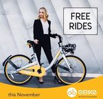 oBike - Unlimited Free Rides for the Rest of November (Melbourne, Sydney, Adelaide) [$0 Deposit Required]