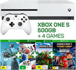 Xbox One S 500GB + 4 Games + 3 Month Xbox Live Token $279 @ EB Games