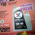 Valvoline SYNpower Full synthetic 5W-40 5L $29.99 @ Repco