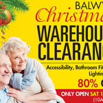 [VIC, In Store] Warehouse Christmas Clearance: Bathroom Cabinets, Lighting & Accessibility up to 80% off @ Iocane (Balwyn)