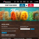 Domino's Pizza: $6.95 Traditional Pizzas Pick-up / $4.95 Garlic Bread & 1.25L Drink Combo (Selected Stores)