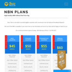 Unlimited Buzz Telco NBN - $45/Mth 12mbps, $50/Mth 25mbps, $55/Mth 50mbps, $60/Mth 100mbps (Month-to-Month)