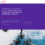 30% off Most Virgin Australia Reward Flights in All Classes
