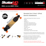 20% off Boosted Gen 2 Dual + (Plus) Electric Skateboard $1,759.95 @ Skater HQ