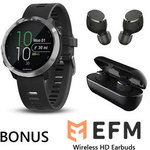 Garmin Forerunner 645 Music (Black) with FREE EFM TWS Wireless HD Earbuds - $599 + Free Shipping
