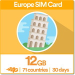 40% off - 12GB UK+ Europe Travel SIM (Data in 71 Countries) - $35.40 AUD + FREE Shipping (Save $23) @ SimsDirect Sydney