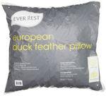 Ever Rest European Duck Feather Pillow $8.49 (50% off) @ Spotlight eBay