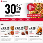 30% off Any Large Pizza at Pizza Hut