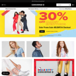 30% off Everything (Exclusions Apply) @ Converse Online and in-Store
