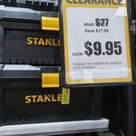 "[VIC] Stanley 16"" Plastic Tool Box $9.95 @ Total Tools, Pakenham"