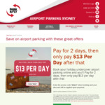 [NSW] Sydney Airport Park & Fly - Pay for 2 Days, Then Pay $13 Per Day after That