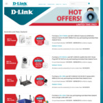 D-Link Networking Promotion: Redeem a Bonus Wi-Fi Camera with Selected Purchase of Routers / Modems from Participating Stores