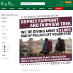 Win 1 of 3 $1,000 Gift Cards from Paddy Pallin