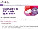 Vivid Wireless Wi-Fi Hotspot 3GB $49 after Cash Back