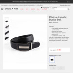 Giordano Leather Belt $19.90 (RRP $129) + Other Styles - Free Shipping on Orders $50+ @ Giordano