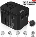 Travel / International Power Adapter $20.99 (Was $28) + Delivery ($0 w/ Prime / $39 Spend) @ LOETAD Amazon AU