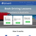 [NSW, VIC, QLD, WA] Driving Lesson Packages for Learners & International Drivers From $55/Hour (Save $10/Hour) @ Driverli
