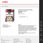 ½ Price Mr Chen's Yum Cha Varieties 240g-350g $3.75, Peters Connoisseur Ice Cream Tub 470mL $5 @ Coles