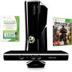MATTE BLACK Xbox 360 Kinect 250GB Bundle - GOW 3, Live 1500 Points & Free Install $399 @ DSE