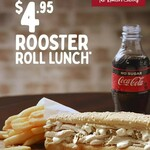 [WA] Rooster Roll, Small Chips & 250ml Soft Drink $4.95 (Until 4pm Daily) @ Red Rooster