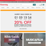 20% off Everything in Stock, 25% off Orders over $120 @ Koorong