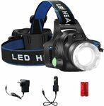 T6 Cree Sensor Control Headlamp with AU Plug Charger/Car Cigar Charger/2*18650 $16 +Shipping ($0 /w Prime) @ AU SELECT Amazon AU
