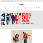 FILA 50% off Sitewide (Free Shipping with Coupon)