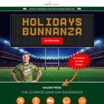 Win a Rabbitohs Game Day Experience for 4 or 1 of 29 Minor Prizes from Ingenia Holidays