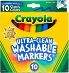 Crayola Ultra Clean Washable Markers 10pk $3 + Delivery ($0 with Prime/ $39 Spend) @ Amazon AU