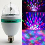 RGB Crystal Ball Effect Light E27 LED Rotating Stage Lighting for Disco DJ Party ~A$0.12 (98% off) @ Chinavasion