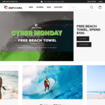 Free Beach Towel Worth $80 with Any Order over $100 @ Rip Curl
