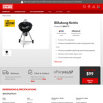 Billabong 57cm Kettle $99 (Save $70) | Malibu 4 Burner BBQ $499 (Save $100) + Delivery/C&C @ Barbeques Galore